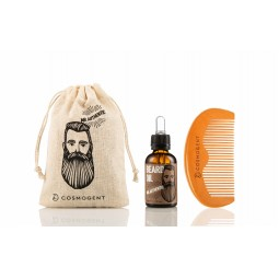 Mr. Cosmo Bundle (Beard Oil 30 ml,Beard & Hair Comb,Travel Pouch)
