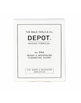Depot Beard & Moustache Cleansing Wipes 1×12