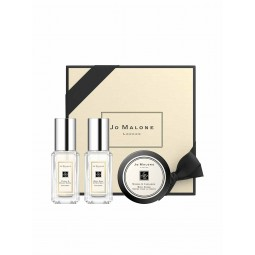Jo Malone Discovery Collection (Peony & Blush Suede Cologne 9ml,Sage & Sea Salt Cologne 9ml,Mimosa & Cardamom Body Crème 15ml)