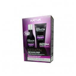 Kativa Keratin Post Alisado Xpress Kit (Shampoo 250ml & Treatment 200ml)