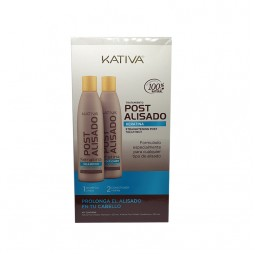 Kativa Straightening Post Treatment Kit (Shampoo 250ml & Conditioner 250ml)