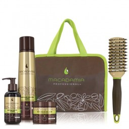 Macadamia Luxury Nourishing Kit (Shampoo 300ml, Oil Treatment 125ml, Masque 60ml & Βούρτσα)