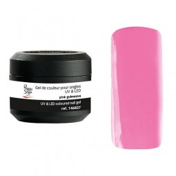 Coloured UV&LED nail gel pink guimauve 5 gr