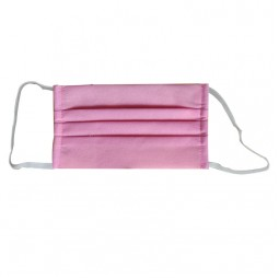 Qure Be Safe Non woven 2 Layers Pink - Επανα-Χρησιμοποιούμενη Μάσκα Προστασίας Προσώπου