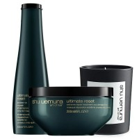 Shu Uemura Ultimate Reset Candle Set ( Ultimate Reset Shampoo 300ml, Ultimate Masque 200ml)