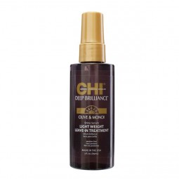 Chi Deep Brilliance Olive & Monoi Shine Serum Light Weight Leave-In Treatment 89ml